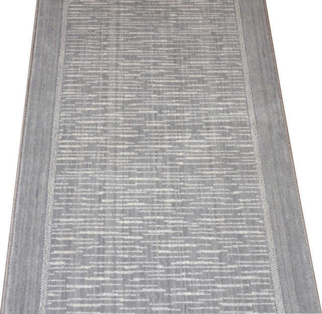 Dean flooring company wellington armada gray wool hall for Contemporary runner rugs for hallway