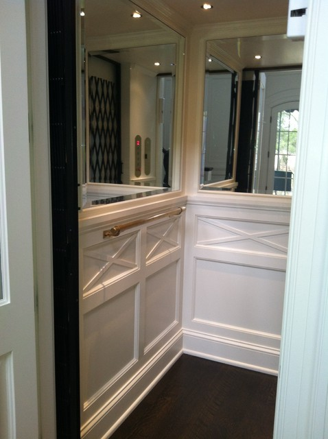Classic Home Elevator Wainscot And Mirrors Nashville