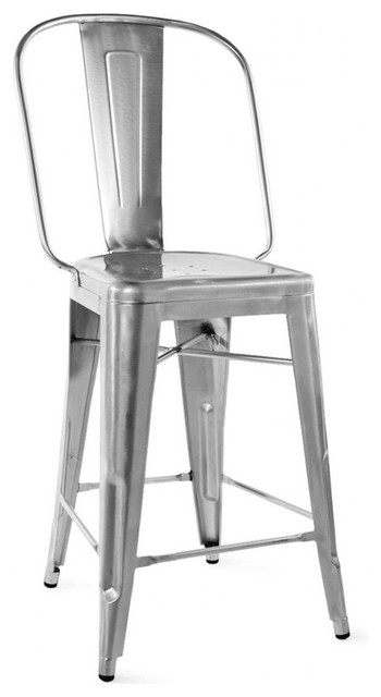 Dreux Steel Counter Chair 24 Inch Set Of 4 Industrial Bar