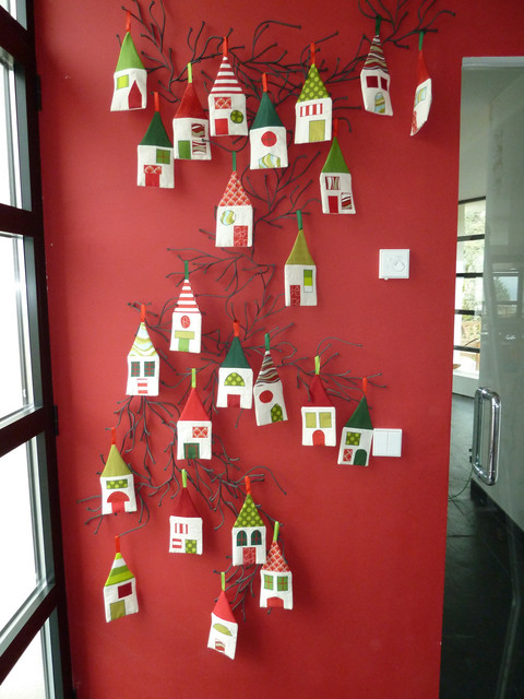 Christmas Decoration Advent Calendar Little Village by Marabara Design