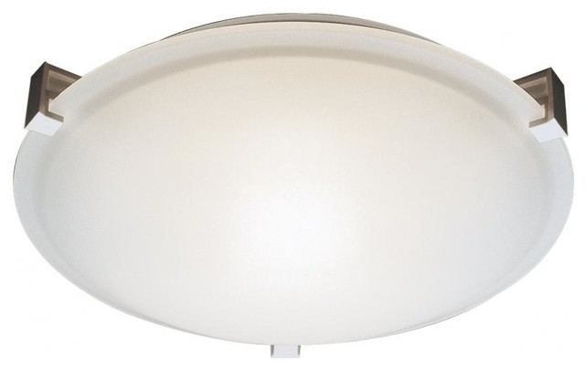 Three Light White White Frosted Glass Bowl Flush Mount.
