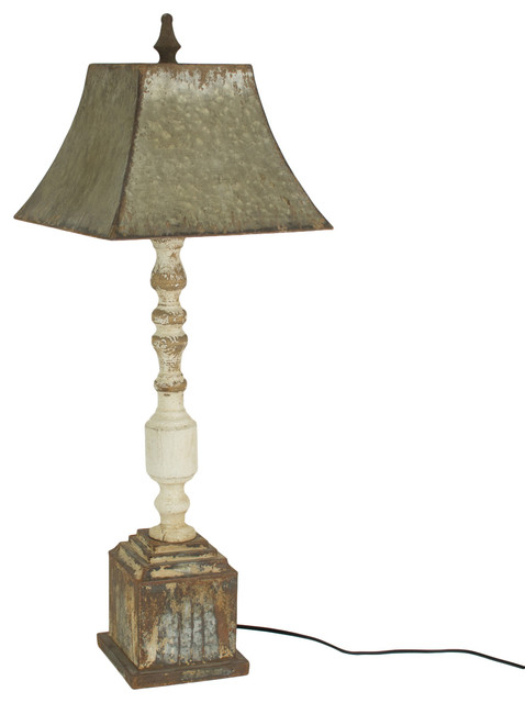separation shoes e15e8 ed0c1 Tall Turned Banister Lamp With Metal Shade