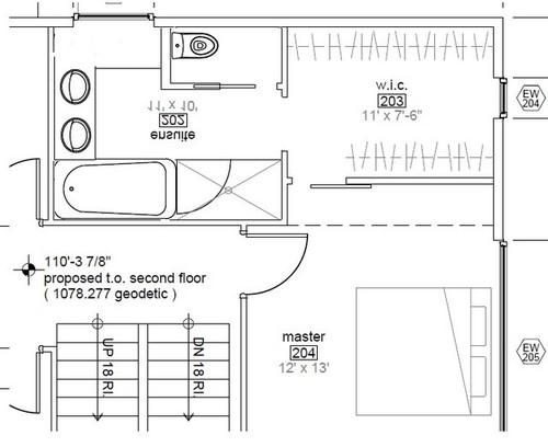 Bathroom layout feedback for 10x11 room layout
