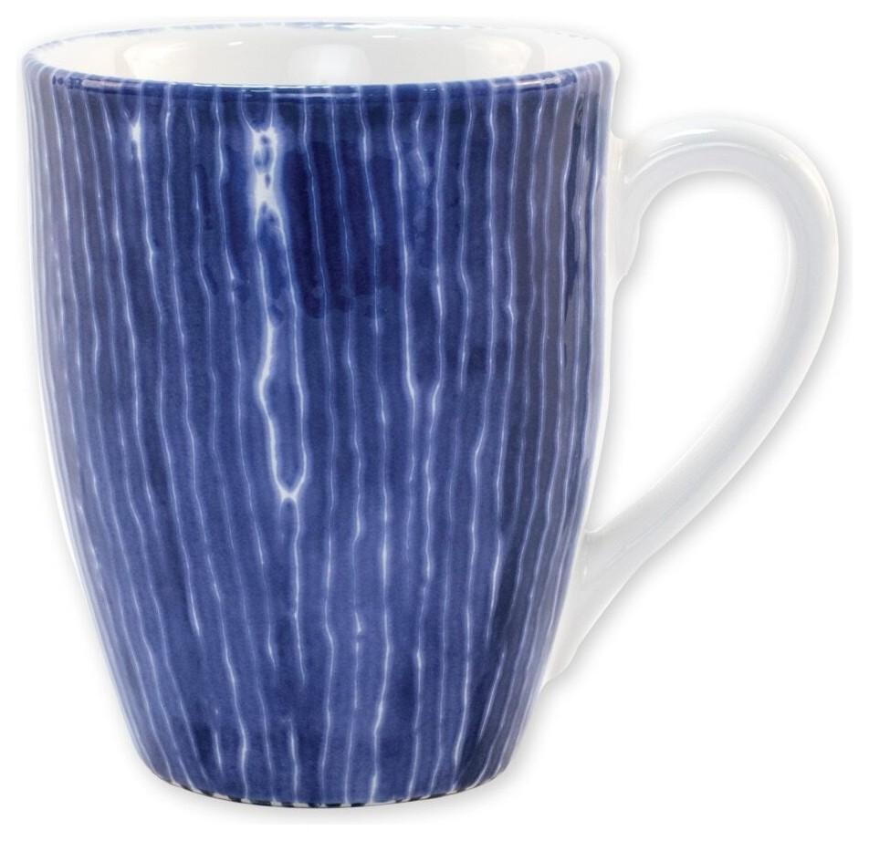 Viva Santorini Stripe Mug Contemporary Mugs By Silver Crystal Gallery