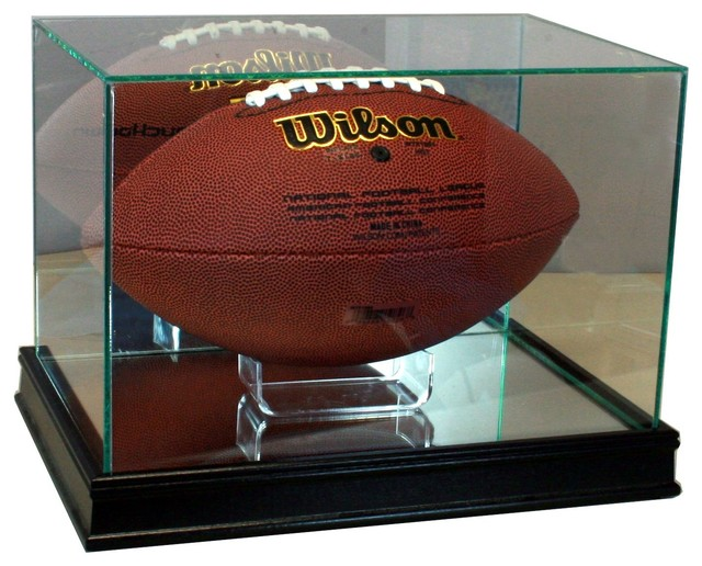 Rectangle Football Display Case Traditional Sports And Game Room Memorabilia By Perfect Cases Inc