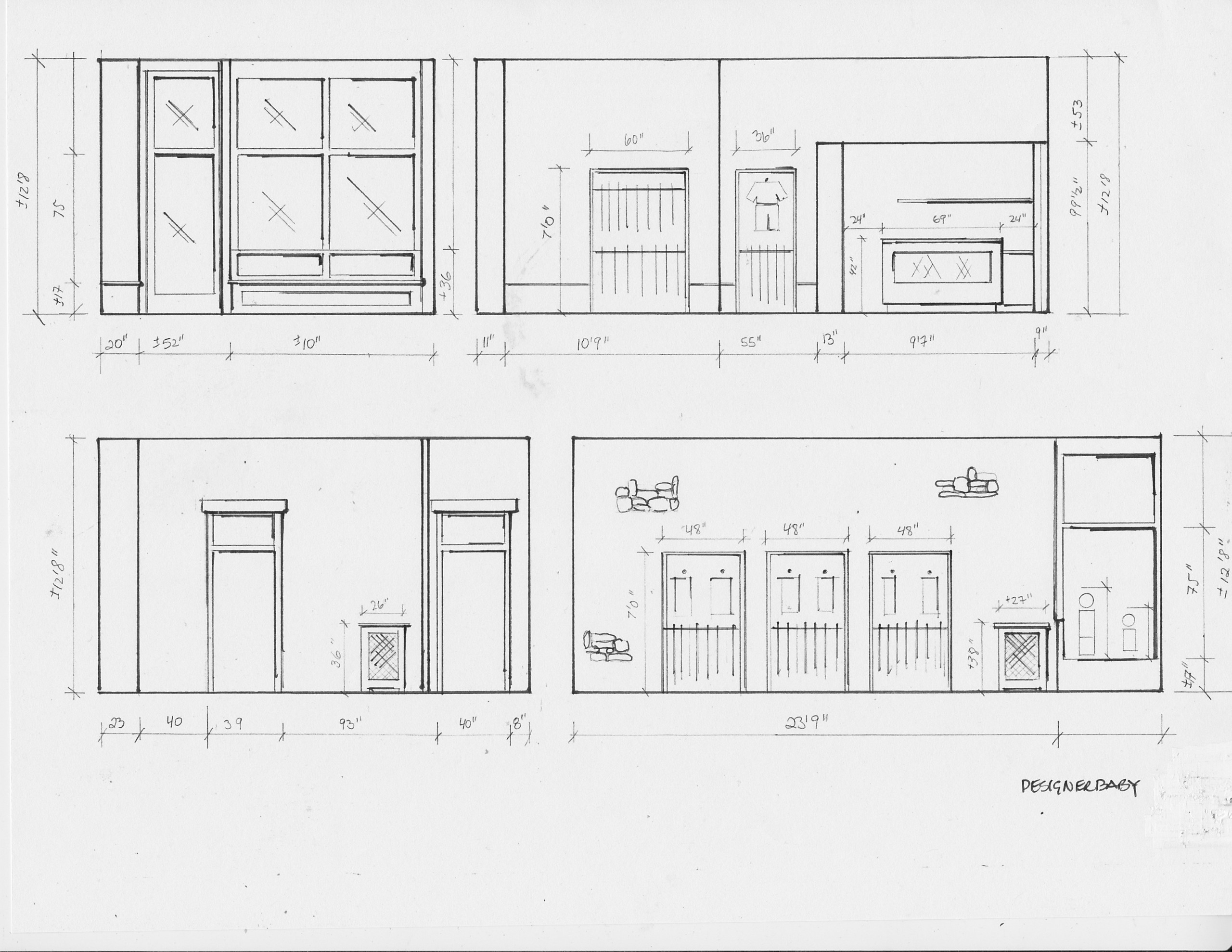 commercial space plans- retail store