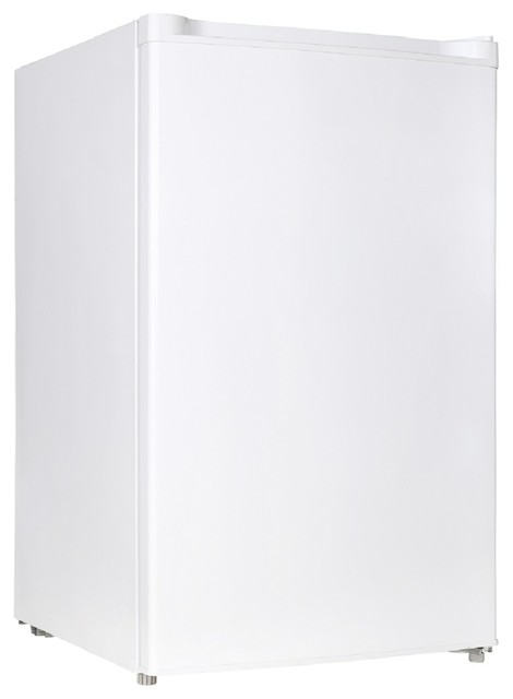 4.4 Cu.ft. Free Standing Compact Refrigerator, Half-Width Chiller Compartment.