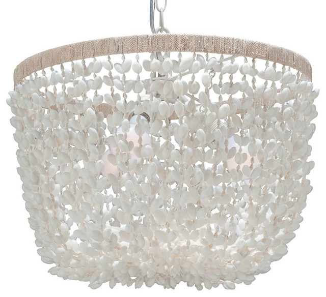 best service 56cac 9a565 Inverted Pendant Lamp, Bubble Seashell, White