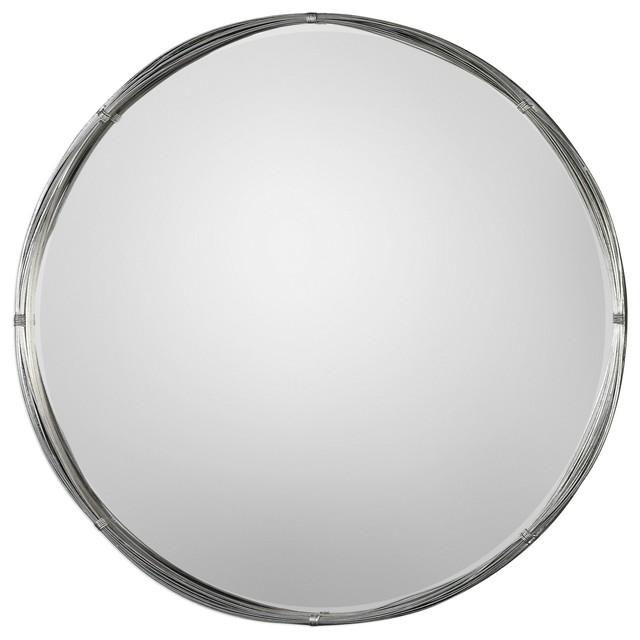 Uttermost Ohmer Round Metal Coils Mirror.