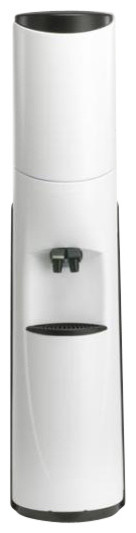 Pacifik High-Tech Water Cooler, White With Black Trim, Hot And Cold Water.