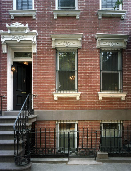 West village townhouse ii traditional exterior new for Townhouse exterior design