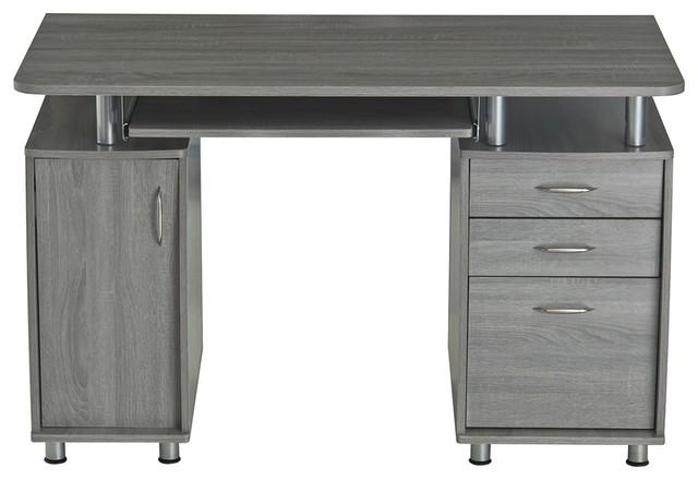 Awe Inspiring Techni Mobili Computer Desk Gray Interior Design Ideas Clesiryabchikinfo