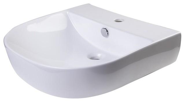 Bathroom Sink Brands : ... Trade ALFI Brand Porcelain Wall Mounted Bath Sink - Bathroom Sinks