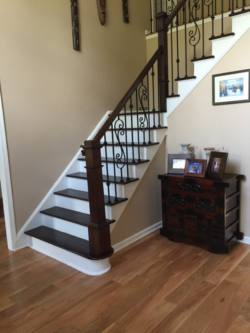 Help Dark Stairs With Light Flooring