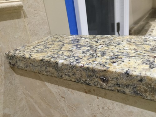 how to fix a chipped granite bench top