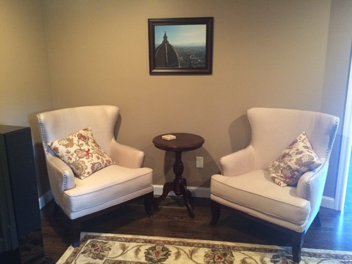 Would A Small Black Table Match The Living Room Or Should We Keep It Browns Tans Whites How Can Incorporate To Fireplace