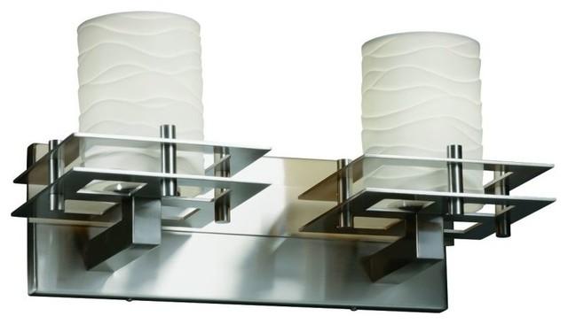 Brushed Nickel 2 Globe Vanity Bath Light Bar Interior: Justice Design Metropolis 2-Light Bath Bar