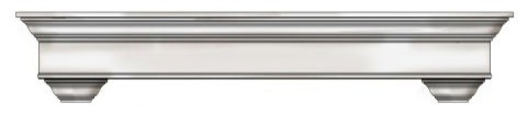 "Bayview Mantel In Antique White Finish, 60""."