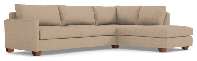 Tuxedo 2 Piece Sectional Sofa Beige Chaise On Right