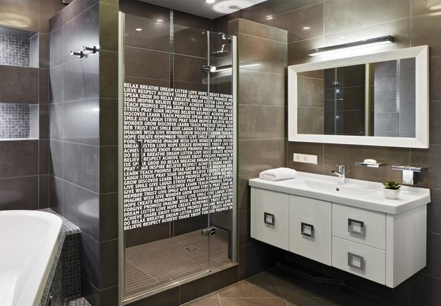 "Shower Door Cling, Inspirational Words, White, 30""x36"""