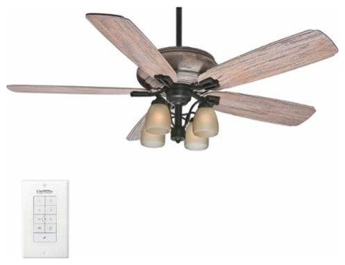 Casablanca heathridge 60 5 blade ceiling fan light kit for Farmhouse ceiling fan