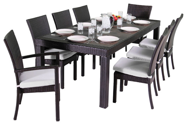 shop houzz deladeco 9 piece dining set outdoor dining sets