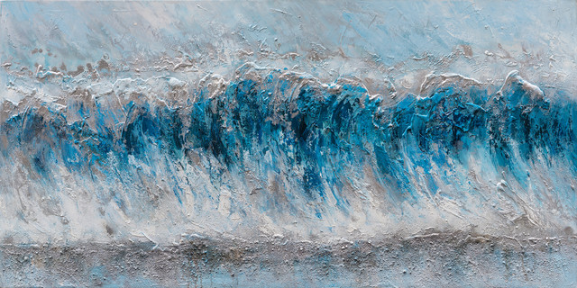 """tidal Waves"" Abstract Hand Painted Canvas Artwork; Modern Art; Fine Artwork."