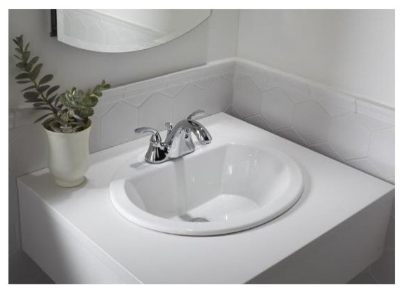 "Kohler K-2699-4 Bryant 17-3/8"" Drop In Bathroom Sink."