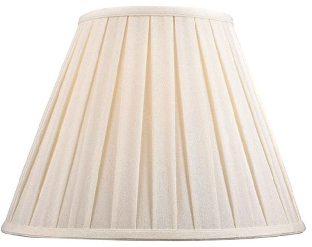 Full Size Natural Linen Box Pleat Shade 8 Quot Traditional