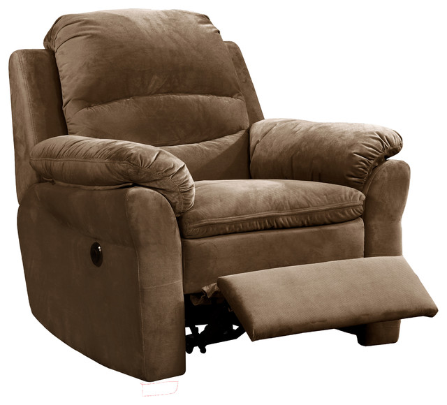 Awe Inspiring Felix Fabric Upholstered Living Room Electric Recliner Power Chair Brown Ibusinesslaw Wood Chair Design Ideas Ibusinesslaworg