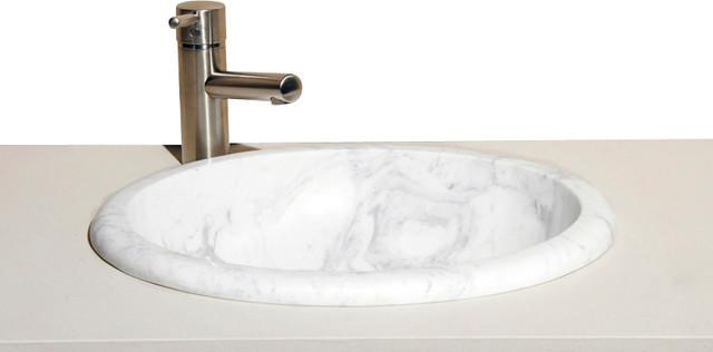 VUMO17 Volakas Polished Deck mount sink traditional-bathroom-sinks