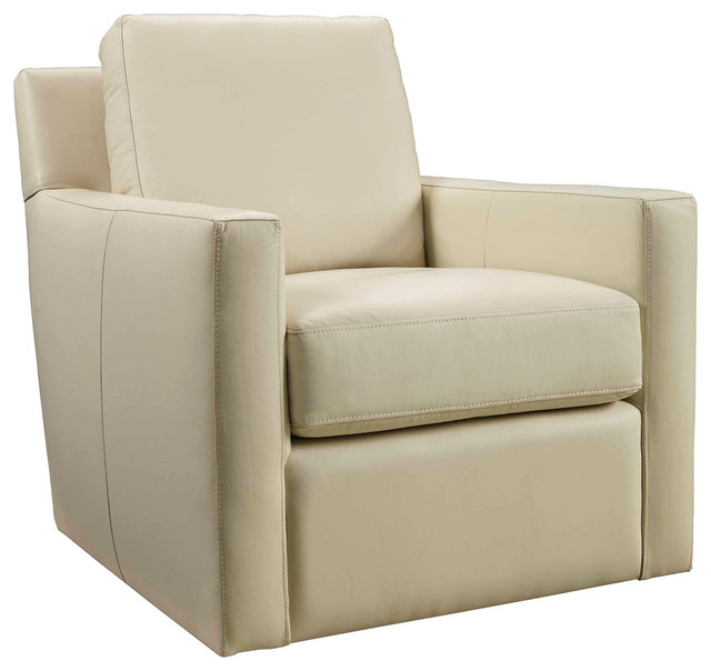 Attractive Milestone Cream Swivel Club Chair