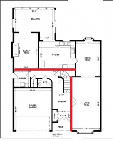 Need help on floor plan for main floor renovation