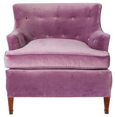 Vintage Lavender Velvet Club Chair   $1,600 Est. Retail   $1,000 On  Chairish.com
