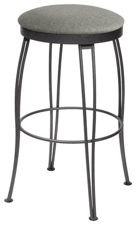 Pat Backless Swivel Stool Contemporary Bar Stools And