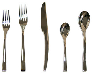 Couzon Steel Place Setting Set Of 5 View In Your Room Houzz