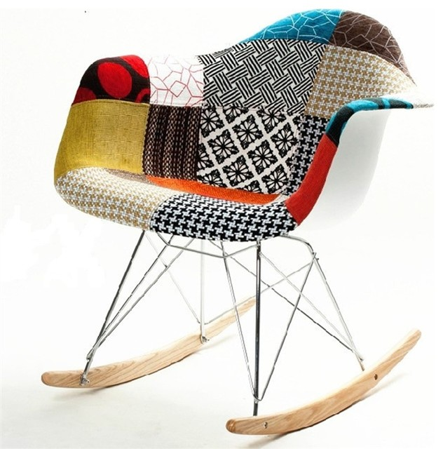 Awesome Fine Mod Imports Patterned Rocker Arm Chair Creativecarmelina Interior Chair Design Creativecarmelinacom