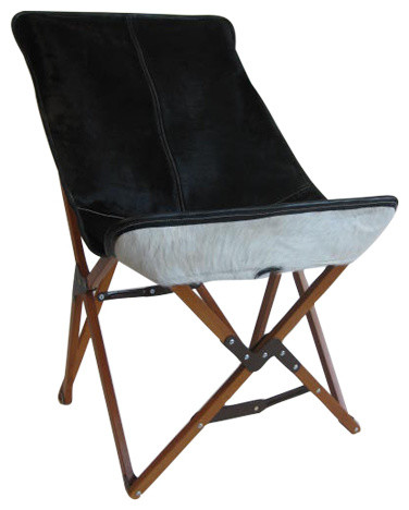 Diseno Boston Tripolina Chair In Cowhide Outdoor Folding