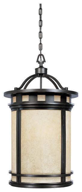 Traditional Foyer Lighting : Oil rubbed bronze light foyer pendant from the sedona