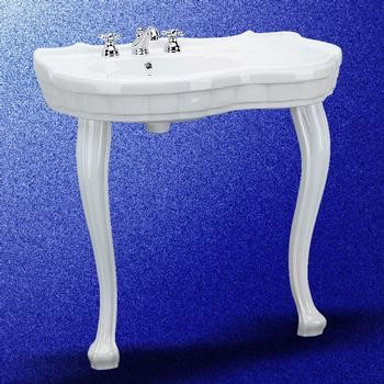 white bathrooms images southern console sinks provincial leg 8 quot 15117