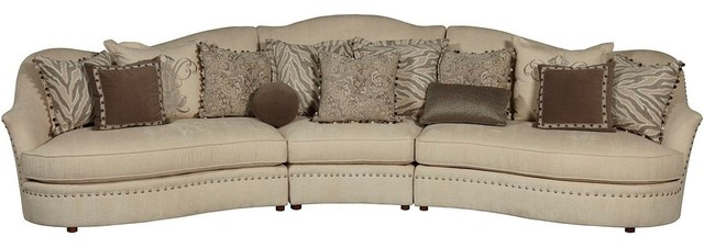 A.R.T. Furniture Amanda Ivory Sectional Transitional Sectional Sofas