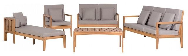 Pataja 5-Piece Brown Outdoor Sofa Set