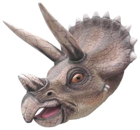 Triceratops Head 3 Life Like Wall Mount
