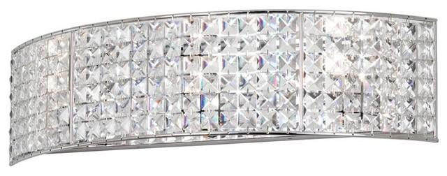 Mila 3 Light Crystal Vanity Fixture
