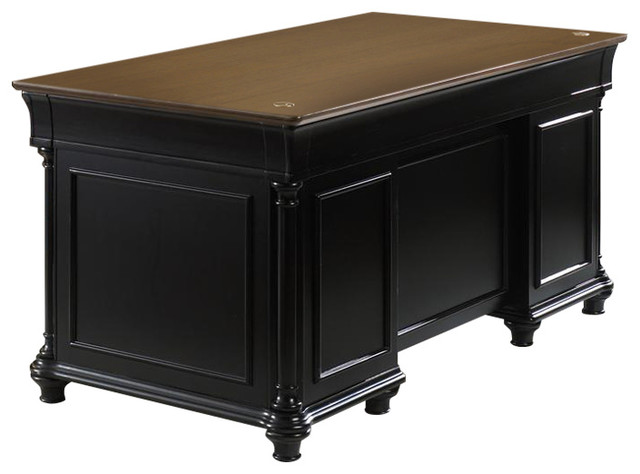 Liberty Furniture St. Ives Jr Executive Desk, Chocolate / Cherry