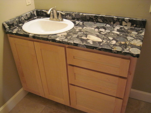 Funky Granite   Sink Is Now In! What Do You Think??