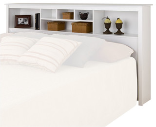 Prepac Monterey White King Bookcase Headboard