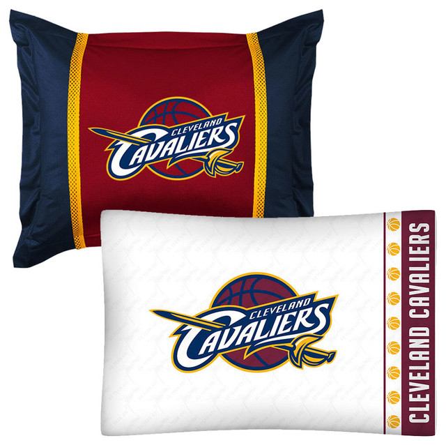 NBA Cleveland Cavaliers Pillowcase Sham Set Basketball Bed  traditional pillowcases and shams. Store51 LLC NBA Cleveland Cavaliers Pillowcase Sham Set Basketball