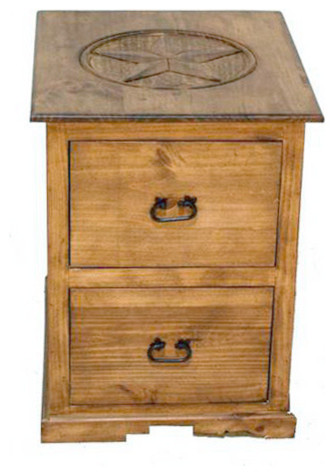 Lone Star 2 Drawer File Cabinet With Star Detail Southwestern Filing  Cabinets