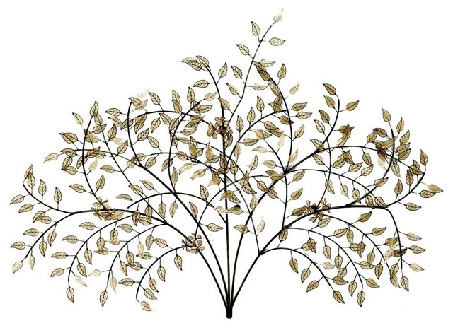 Twig Wall Decor evening shade wall decor - contemporary - metal wall art -